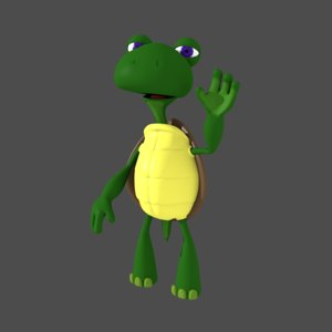 3D cartoon tortoise model