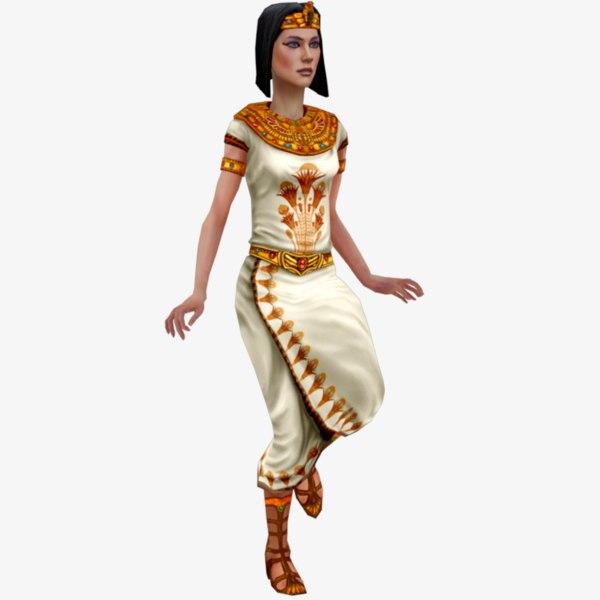 egyptian priestess rig 3D