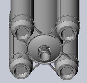 ariane 6 rocket scaled 3D model