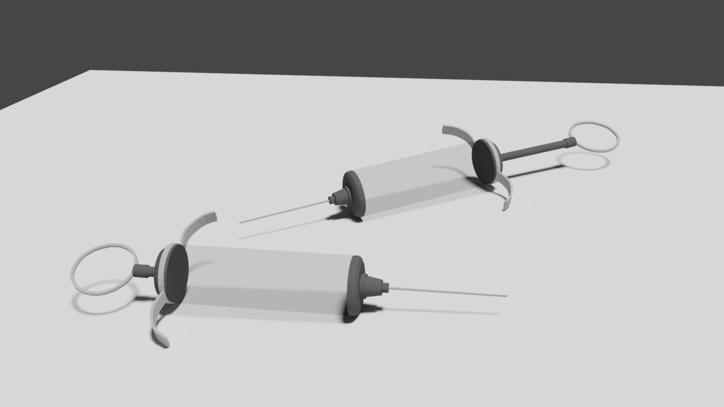 3D low-poly syringe