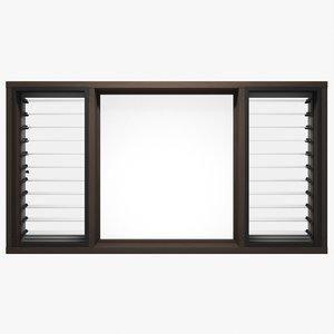 2m x 1m window frame 3D model
