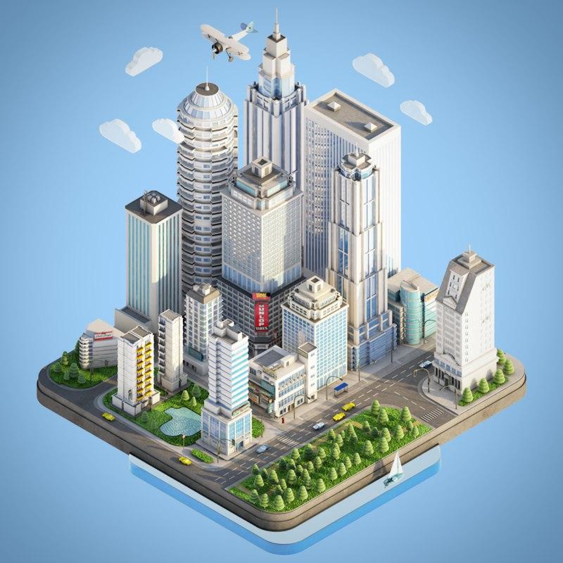 town city 3D model