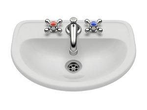3D retro sink wash
