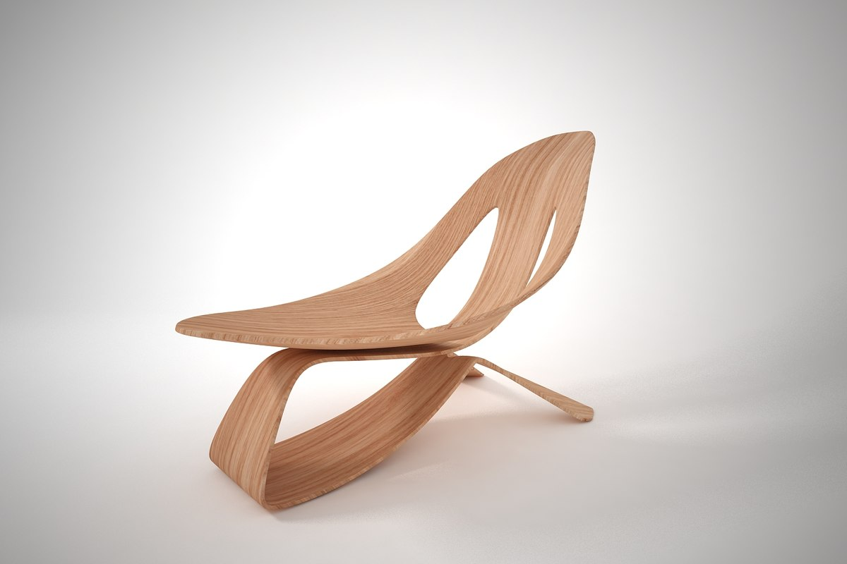 3D furnishings rocking chair