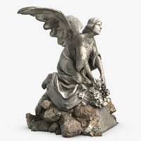 Sculpture Angel On The Stone