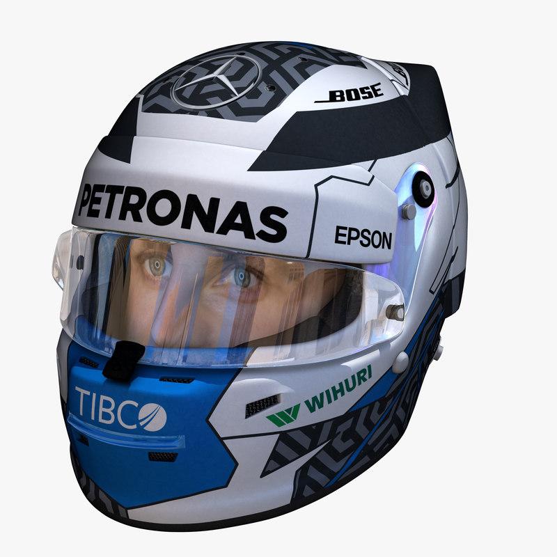 3D model bottas helmet e
