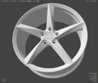 hubcaps modo 3D model