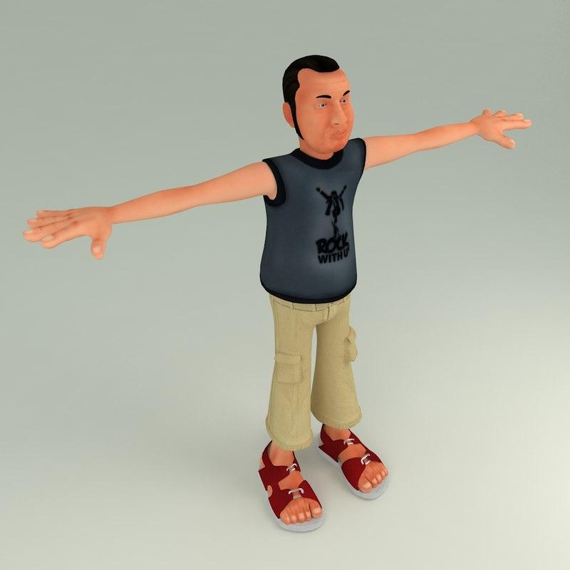 3D bubun character