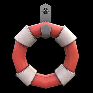lifebuoy cartoon 3D model