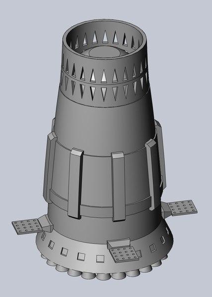 3D n1-l3 soviet rocket moon