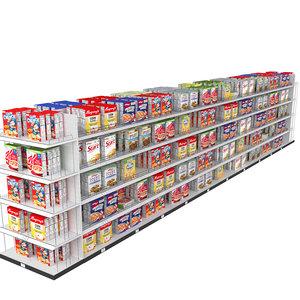 shelves cereal 3D