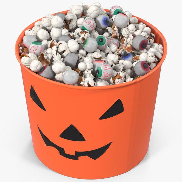 3D halloween popcorn cup model