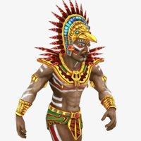 mayan priest rig 3D