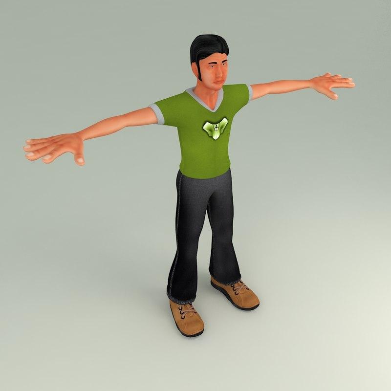 3D deep character model
