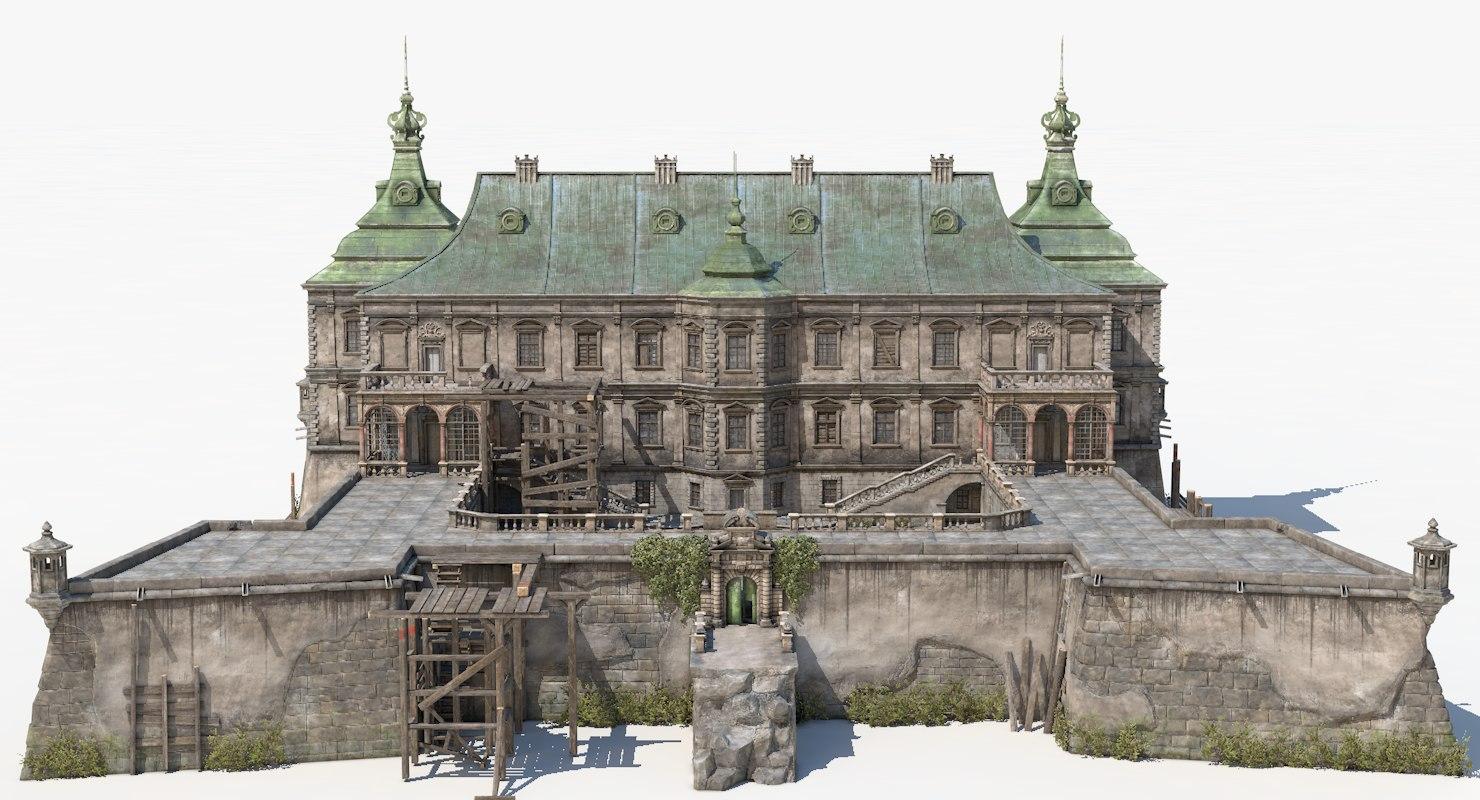abandoned renaissance castle 3D model