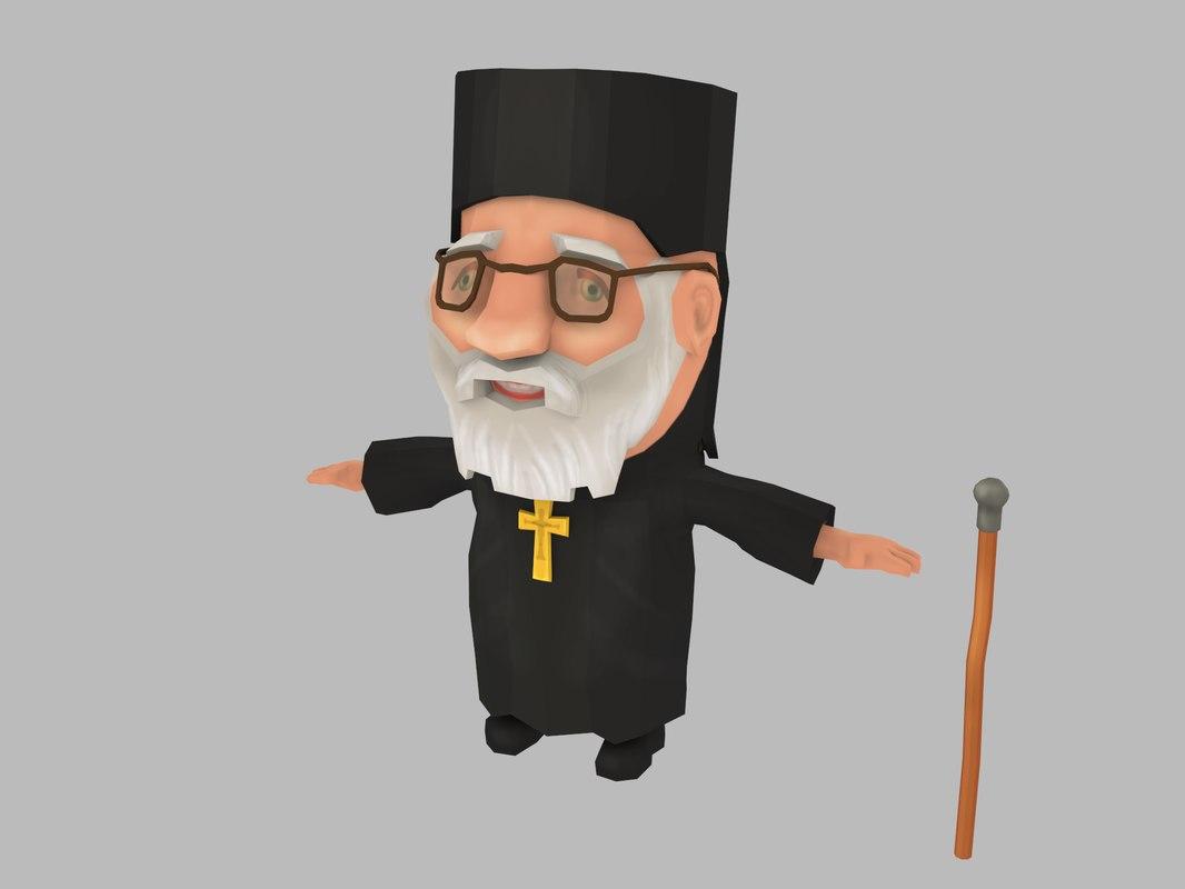 priest chibi 3D model