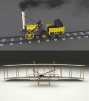 pack wright flyer locomotive model