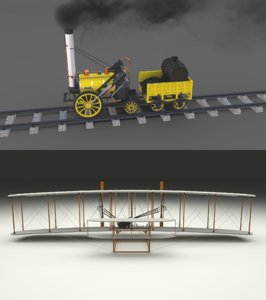 pack wright flyer locomotive model