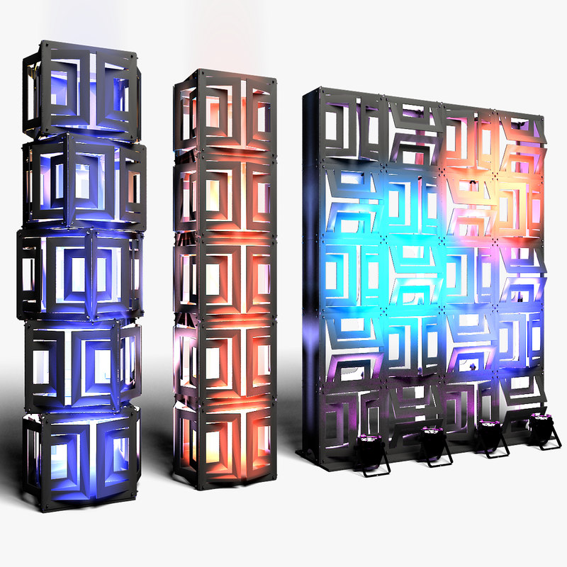3D stage decor 21 modular