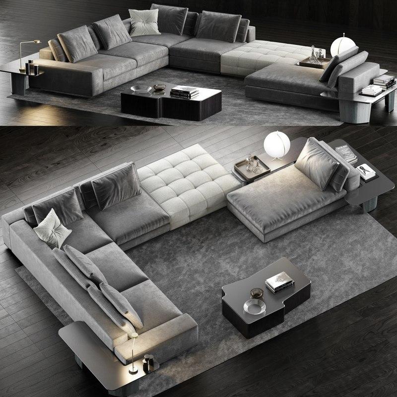 3D model minotti lawrence sofa