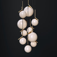 3D chandelier flos ic