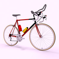3D racing bicycle model