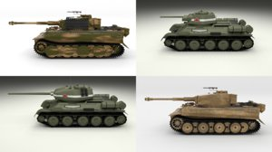 pack ww2 tiger model
