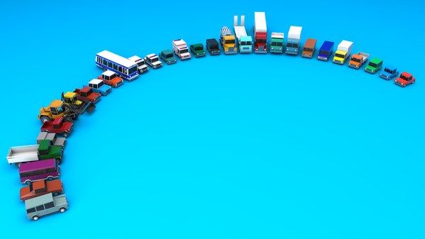 3D vehicle city model