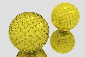 gold sphere 3D model