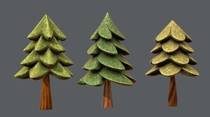 trees cartoon v02 model