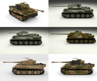 3D pack ww2 tiger model