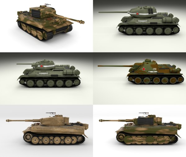 3D pack ww2 tiger model