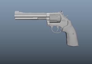 3D revolver smith wesson