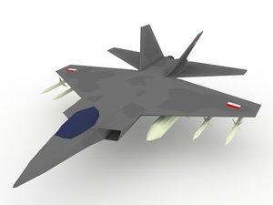 3D model ifx jet fighter