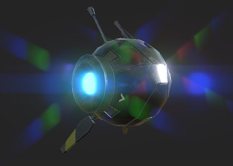 flying robot polys 3D model