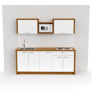 3D small kitchen model