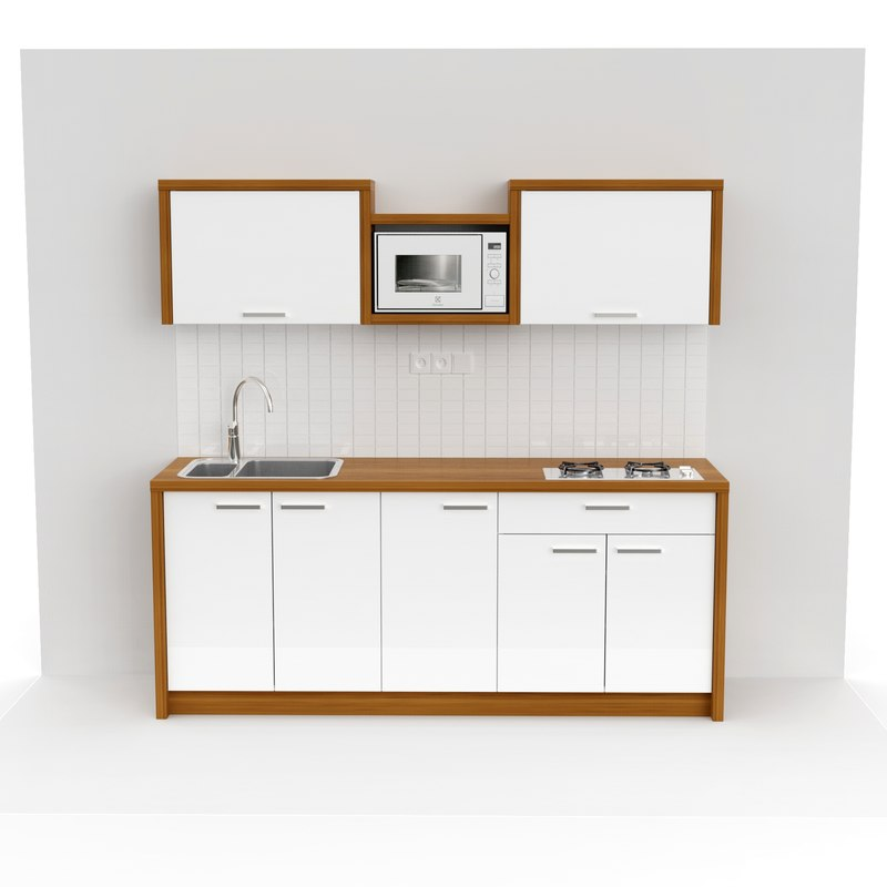 3D small kitchen model