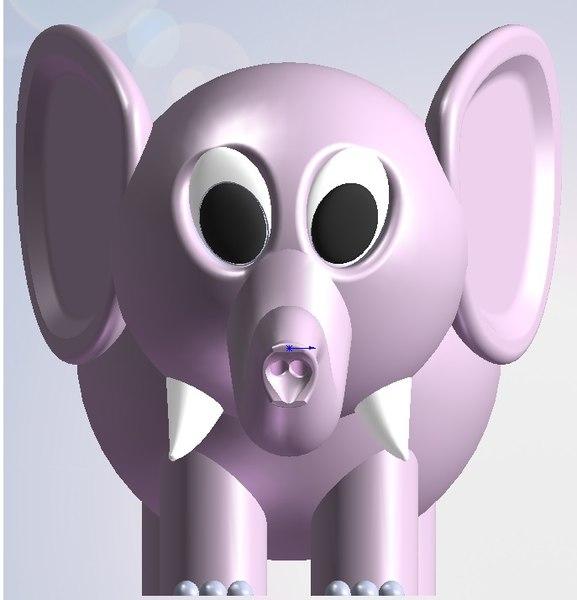 little elephant 3D