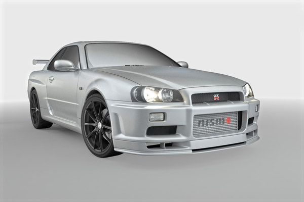 3D car nissan skyline r34 model