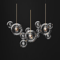 Chandelier Giopato & Coombes BOLLE 14 bubbles Clear/GOLD