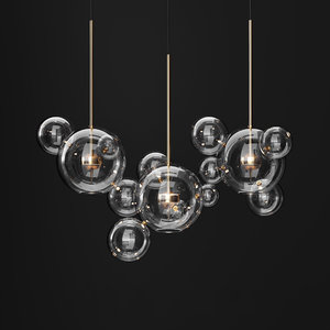 3D model chandelier giopato coombes bolle