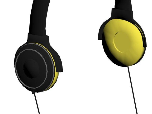 headphones auriculares music 3D model