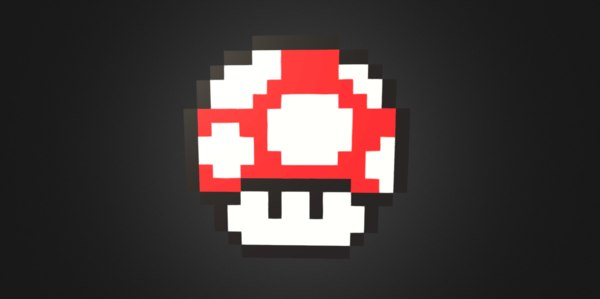 Mario Mushroom 3d Models For Download Turbosquid