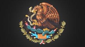 mexican coat arms | 3D model