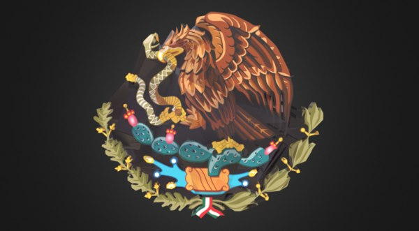 mexican coat arms - 3D model