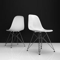 3D eames dsr plastic chairs