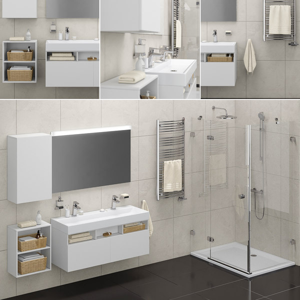 bathroom set 01 3D