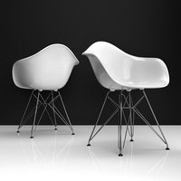 eames dar plastic chair 3D model