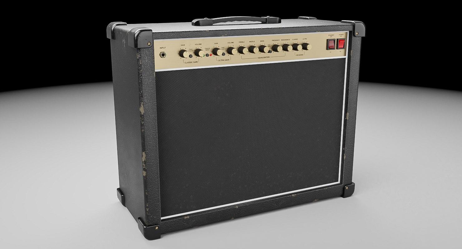 guitar amplifier amps 3D