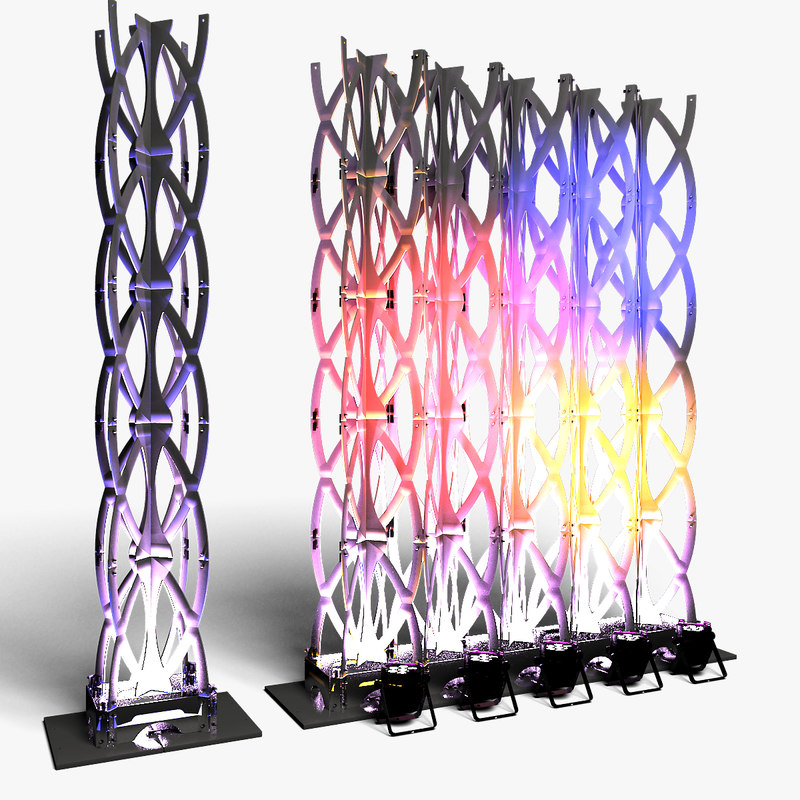 stage decor 27 modular 3D model